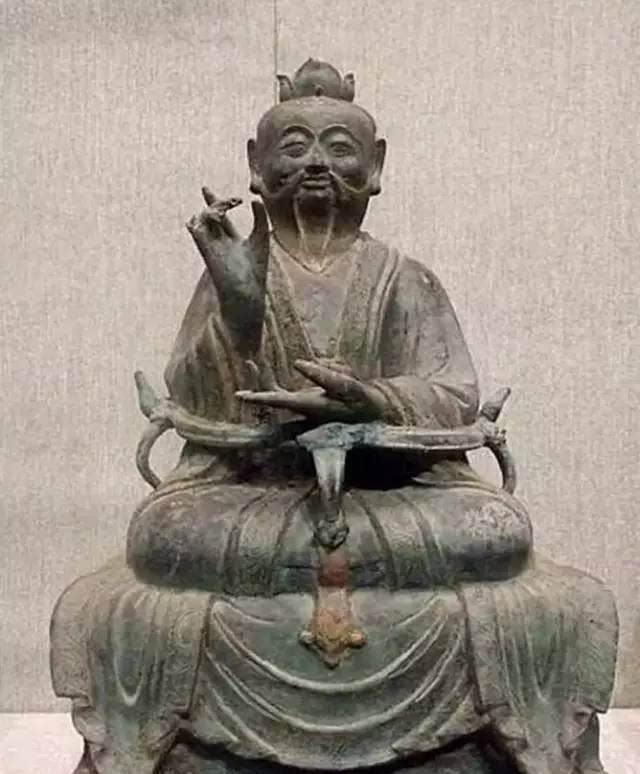 西安碑林博物馆保存的唐代老子石刻像.jpeg